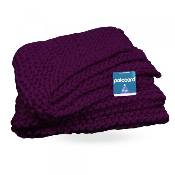 Kit Tricot Plaid,couverture Violet