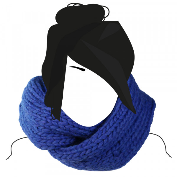 Kit tricot Snood Loop Catherine Bleu Denim