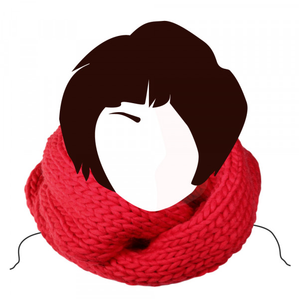Kit tricot Snood Loop Catherine Rouge